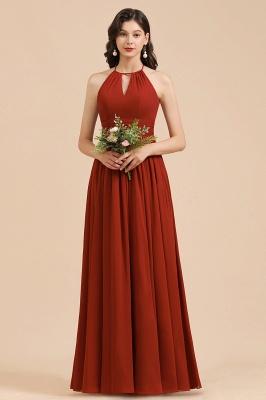 Schöne Brautjungfernkleider Lang Rot | Hochzeitspartykleider Günstig_5