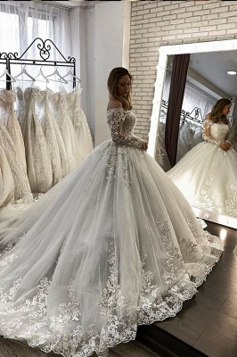 Elegant wedding dresses with sleeves | Wedding dresses princess lace_2