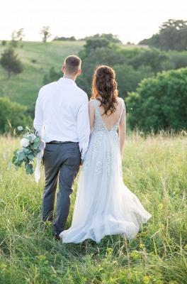 Elegant Evening Dresses Long V Neck | Prom dresses with lace_11
