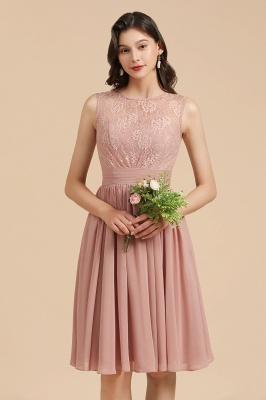 Brautjungfernkleider Kurz  Altrosa | Chiffon Kleider Mit Spitze
