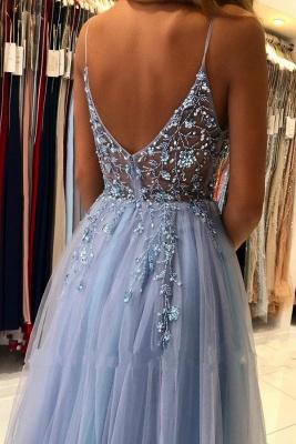 Blaues Abendkleider Lang Günstig | Abiballkleider Online Kaufen_3