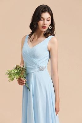 Schöne Brautjungfernkleider Lang Blau | Chiffon Kleider Für Brautjungfern_7