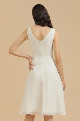 Schlichte Brautjungfernkleider Weiß | Kurze Kleider Für Brautjungfern_9