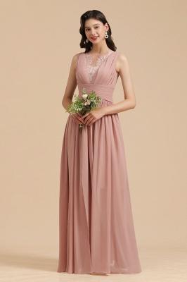 Brautjungfernkleider Lang Altrosa | Chiffon Kleider Günstig Online