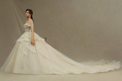 Elegante Hochzeitskleider Prinzessin | Brautkleider mit Spitze_4