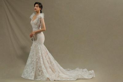 Designer Hochzeitskleider Meerjungfrau | Spitze Brautkleider Online_5