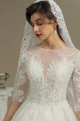 Hochzeitskleid Standesamt A Linie | Brautkleider mit Ärmel_8