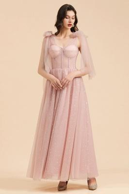 Schöne Brautjungfernkleider Lang Rosa Mit Ärmel_5