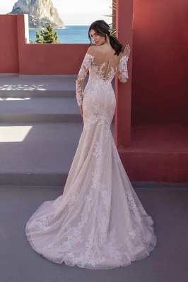 Designer wedding dresses lace | Wedding dresses mermaid with sleeves_2