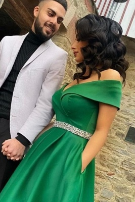 Elegant evening dresses green | Prom dresses long cheap