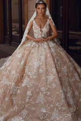 Extravagante Brautkleider Prinzessin | Spitze Hochzeitskleider Glitzer_1
