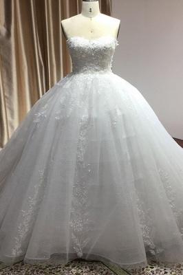 Brautkleider Prinzessin | Tüll Hochzeitskleider mit Spitze_3