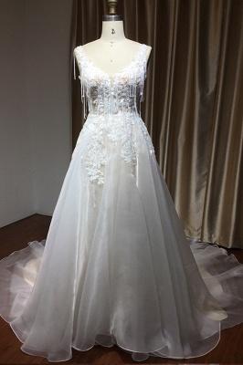 Wunderschöne Hochzeitskleider Mit Spitze | Brautkleid A Linie_4