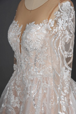 Extravagant wedding dresses with sleeves | Lace wedding dresses princess_8