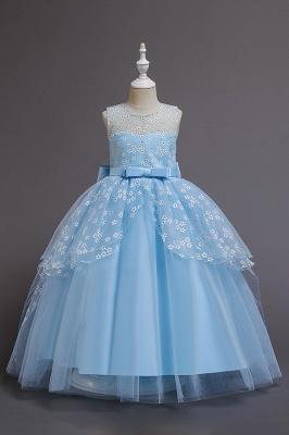 Weinrot Blumenmädchenkleider Günstig | Kinder Hochzeitskleider_4