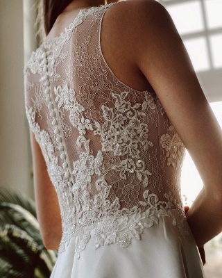 Simple wedding dress mermaid lace | Wedding dresses cheap_6