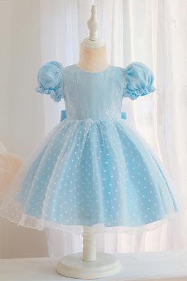Süßige Blumenmädchenkleider Rosa | Kinder Hochzeitskleider_3