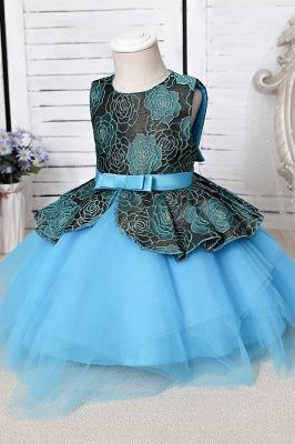 Blue Flower Girl Dresses Cheap | Lace kids dresses_7