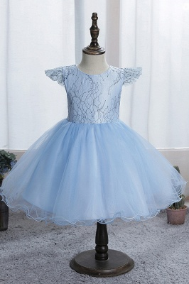 Simple flower girl dress blue | Children's dresses for flower girls