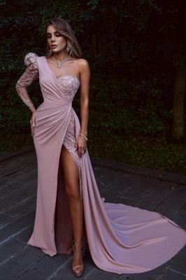 Elegante Abendkleider Lang Rosa | Abiballkleider mit Spitze_1