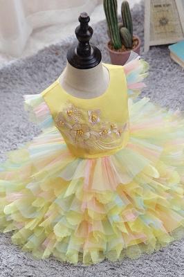 Yellow children's dresses for wedding | Flower girl dresses cheap_2