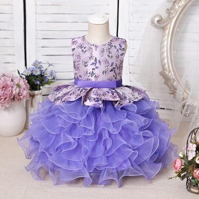 Purpur Kinder Kleider für Blumenmädchen | Blumenmädchenkleider Günstig_1