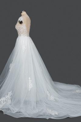 Elegant wedding dresses A line | Buy Glitter Wedding Dresses_3