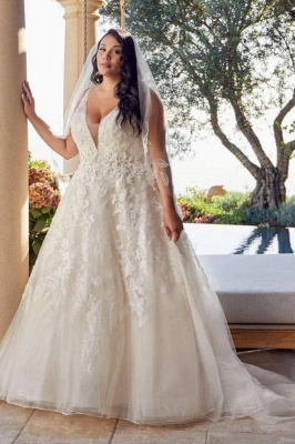 Brautkleider Große Größe A Linie | Übergroße Hochzeitskleider Spitze_1