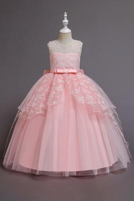 Weinrot Blumenmädchenkleider Günstig | Kinder Hochzeitskleider_1