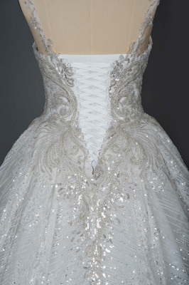 Extravagant wedding dresses glitter | Wedding dresses A line_4