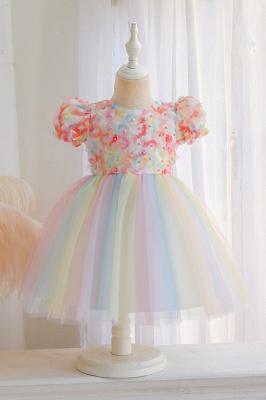 Schöne Blumenmädchenkleider Günstig | Tüll Kinder Hochzeitskleider_1