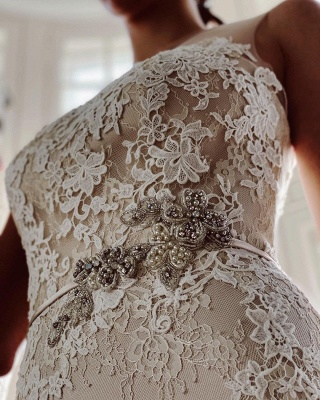 Simple wedding dress mermaid lace | Wedding dresses cheap_7