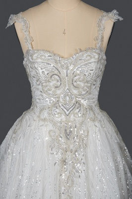 Extravagant wedding dresses glitter | Wedding dresses A line_9