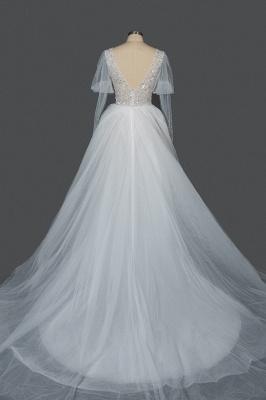 Designer Hochzeitskleider A Linie | Brautkleider Mit Ärmel_4