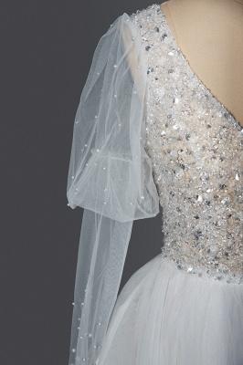 Designer Hochzeitskleider A Linie | Brautkleider Mit Ärmel_6