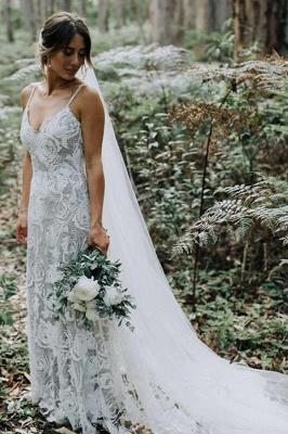 Schlichtes Hochzeitskleid A Linie Spitze | Elegante Brautkleider Online_2