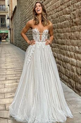 Brautkleid A Linie Spitze | Hochzeitskleider Online kaufen_5