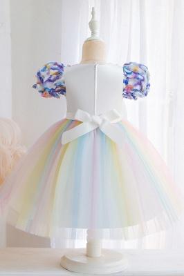 Schöne Blumenmädchenkleider Günstig | Tüll Kinder Hochzeitskleider_5