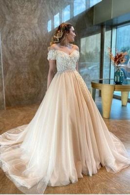 Champagne Wedding Dresses A Line | Cheap Wedding Dresses Online_1