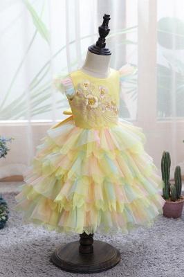 Yellow children's dresses for wedding | Flower girl dresses cheap_6