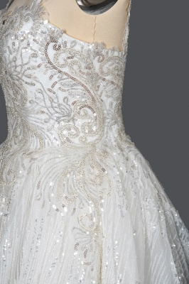 Extravagant wedding dresses glitter | Wedding dresses A line_8