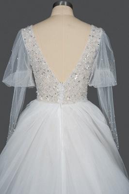Designer Hochzeitskleider A Linie | Brautkleider Mit Ärmel_2