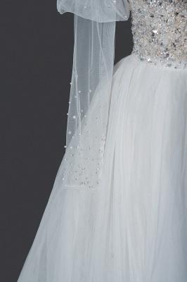 Designer Hochzeitskleider A Linie | Brautkleider Mit Ärmel_5