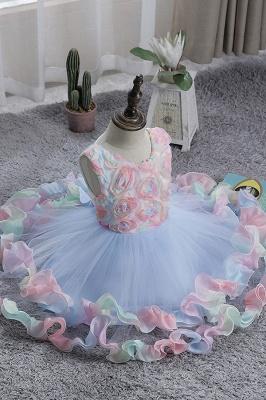 Schicke Blumenmädchenkleider Blau | Kinder Hochzeitskleider Günstig_7