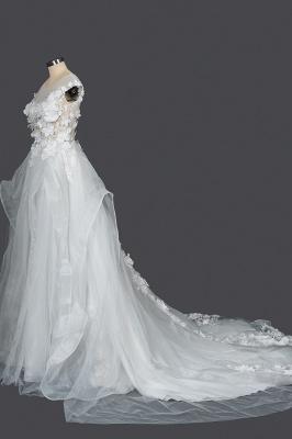 Gorgeous wedding dresses A line | Cheap tulle wedding dresses_3