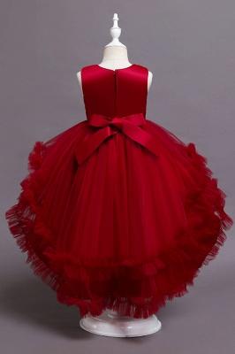 Prinzessin Blumenmädchenkleider Rot | Kinder Kleider zur Hochzeit_6