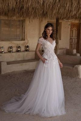 Simple wedding dress A line | Buy cheap wedding dresses online_1