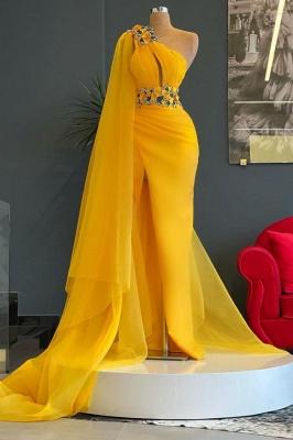 Abiballkleider Lang Gelb | Abendkleider Günstig Kaufen_1