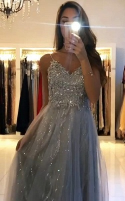 Evening dresses long glitter | Cheap prom dresses with lace_4