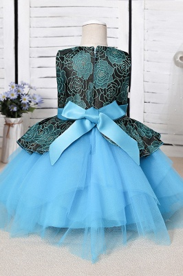Blue Flower Girl Dresses Cheap | Lace kids dresses_6